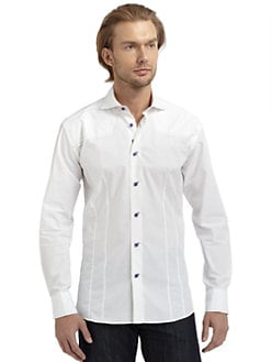 Bogosse - Seed-Stitched Button-Down Shirt/White