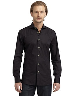 Bogosse - Seed-Stitched Button-Down Shirt/Black