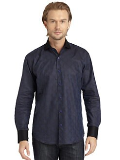 Bogosse - Tonal Weave Button-Down Shirt