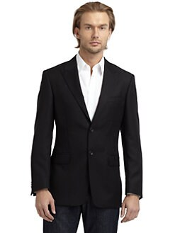 Versace Collection - Wool Twill Blazer/Slim-Fit