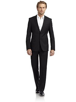 Versace Collection - Chalk-Pinstriped Suit/Slim-Fit