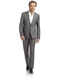 Versace Collection - Tonal Plaid Suit/Slim-Fit