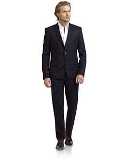 Versace Collection - Tricolor-Pinstriped Suit/Slim-Fit