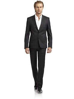 Versace Collection - Tonal Glen Plaid Suit/Slim-Fit