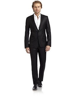 Versace Collection - Matte Satin-Trimmed Tuxedo/Slim-Fit