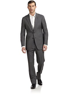 Armani Collezioni - Wool Plaid Two-Button Suit/Slim-Fit