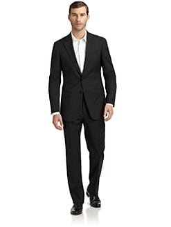 Armani Collezioni - Wool Two-Button Slim-Fit  Suit/Black