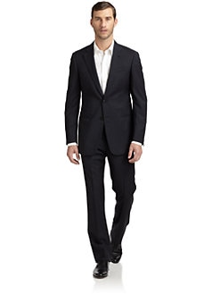 Armani Collezioni - Wool Two-Button Slim-Fit Suit/Navy