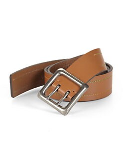 Robert Graham - Osbourne Stitched Leather Belt