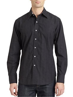 Robert Graham - Hood Woven Cotton Robot Button-Down Shirt
