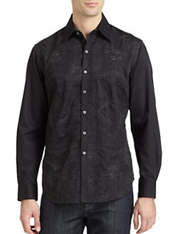 Robert Graham - Mastriani Woven Cotton Paisley Button-Down Shirt