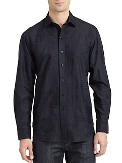 Robert Graham - Riddick Woven Cotton Check Button-Down Shirt