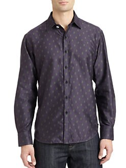 Robert Graham - Tyrion Woven Cotton Skeleton Button-Down Shirt