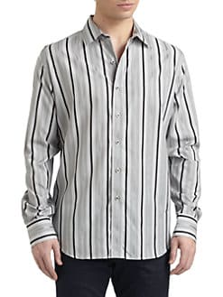 Robert Graham - Buckingham Woven Cotton Check & Stripe Button-Down Shirt