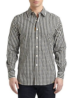 Robert Graham - Nicholas Woven Cotton Gingham Button-Down Shirt
