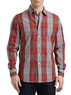 Robert Graham - Leoni Woven Cotton Gingham Button-Down Shirt