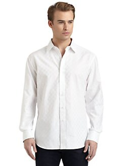 Robert Graham - Block Woven Cotton Jacquard Check Button-Down Shirt