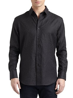 Robert Graham - Derrick Woven Cotton Paisley Button-Down Shirt