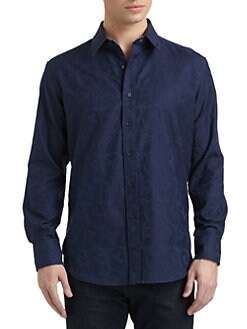 Robert Graham - Woven Cotton Paisley Button-Down Shirt