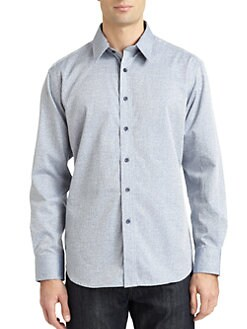 Robert Graham - Jettison Woven Cotton Jacquard Pattern Button-Down Shirt