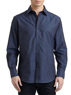Robert Graham - Manet Woven Cotton Bird's Eye Button-Down Shirt