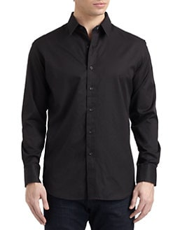 Robert Graham - Ring Tail Woven Cotton Jacquard Stripe Button-Down Shirt