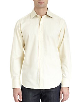 Robert Graham - Woven Cotton Jacquard Button-Down Shirt