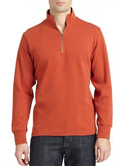 Robert Graham - Normandy Cotton Half Zip Sweater