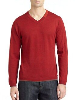 Robert Graham - Forest Wool V-Neck Sweater