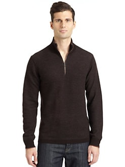 Robert Graham - Berkeley Tweed Knit Half Zip Sweater