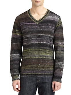 Robert Graham - Huntingdon Space Dyed V-Neck Sweater