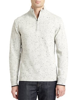 Robert Graham - Hampton Wool Half Zip Sweater