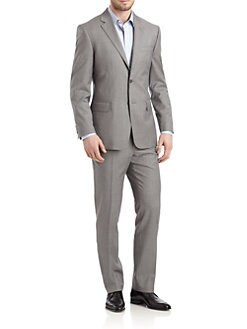 Valentino - Wool Pinstripe Two-Button Suit/Slim-Fit