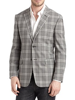 Valentino - Wool Gingham Blazer/Slim-Fit