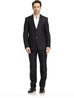 Versace Collection - Stripe Slim-Fit Suit/Medium Blue