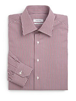 Valentino - Cotton Check Slim Fit Shirt