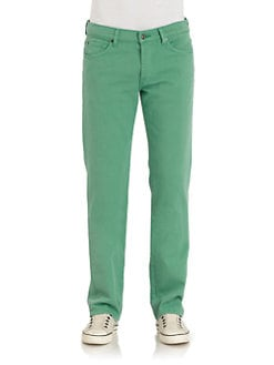 7 For All Mankind - Standard Straight-Leg Colored Jeans