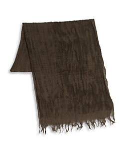 John Varvatos - Crinkled Cotton Gauze Scarf