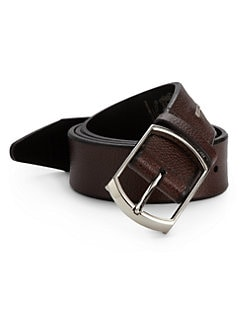 Bruno Magli - Textured Leather Belt/Brown
