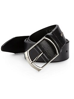 Bruno Magli - Textured Leather Belt/Black