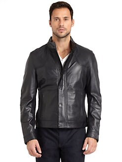 Elie Tahari - Norris Leather Jacket