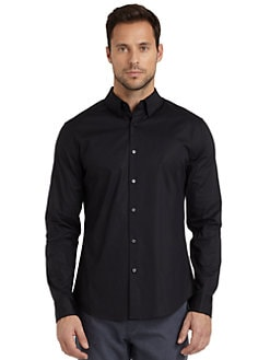 Elie Tahari - Steve Stretch Cotton Shirt