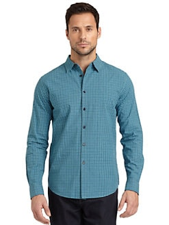Elie Tahari - Steve Check-Print Cotton Shirt