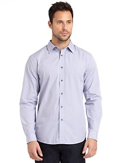 Elie Tahari - Kenneth Striped Cotton Shirt