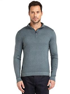 Elie Tahari - Davis Quarter-Zip Sweater