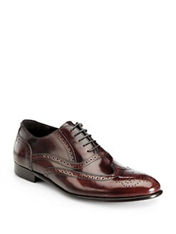 Gordon Rush - Pacific Wingtip Oxford Dress Shoes/Burgundy