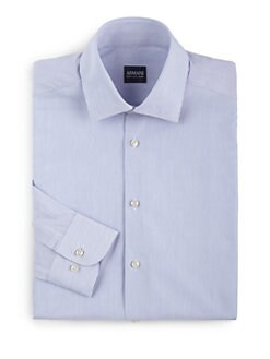 Armani Collezioni - Pinstriped Cotton Button-Front Shirt