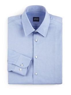 Armani Collezioni - Cotton Twill Button-Front Shirt