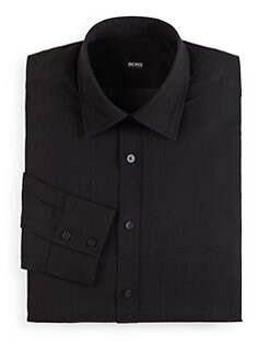 Hugo Boss - Lex Bird's-Eye Button-Front Shirt