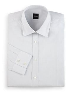 Hugo Boss - Lex Woven Plaid Button-Front Shirt/White